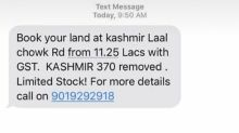 Article 370: The Truth Behind Viral SMS Offering Land For Sale In Kashmir