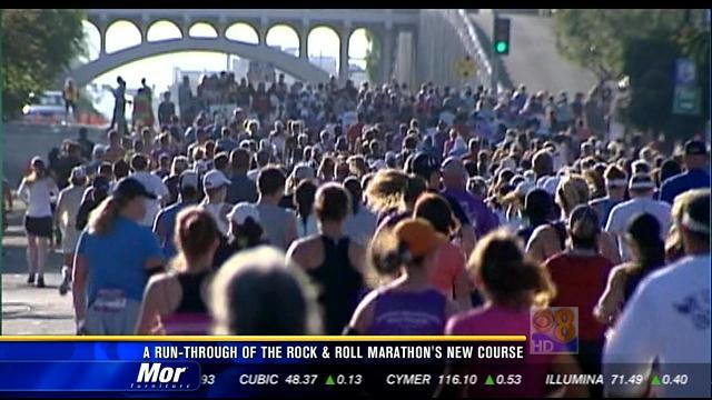 A run-through of the Rock and Roll Marathon's new course