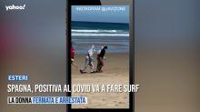 Spagna, positiva al covid va a fare surf