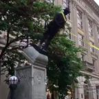 Demonstrators Pull Down Confederate Monument In Durham