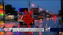 Flash Flooding Causes Problems Along Buffalo Creek In Cleburne
