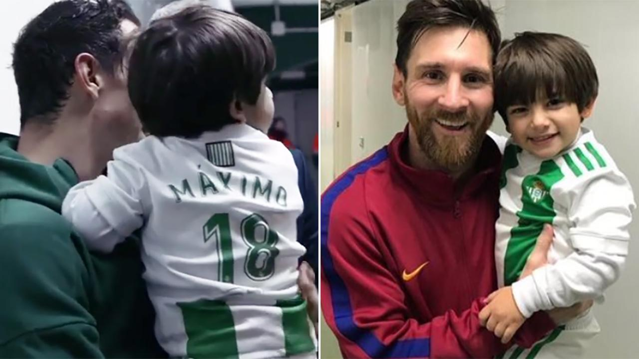 Confirm. happens. Lionel messi son something is