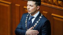 Comedian Volodymyr Zelenskiy sworn in as Ukraine's president, dissolves Parliament