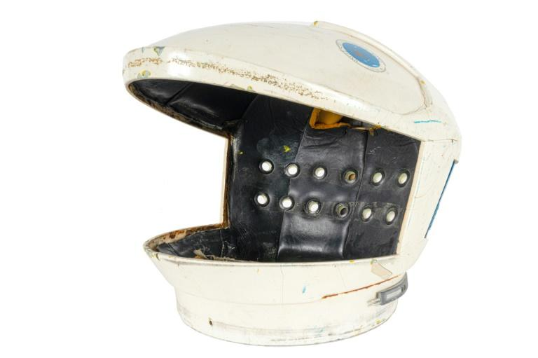 "A helmet worn in Stanley Kubrick's ""2001 Space Odyssey"", to be auctioned as part of the full suit in July 2020 (AFP Photo/-)"