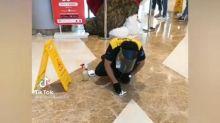 Viral Video Petugas Kebersihan Sibuk Bersihkan Kotoran Anjing yang Berceceran di Mal