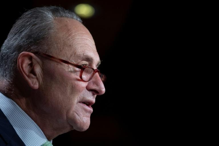 Senate minority leader Chuck Schumer, pictured October 1, 2020, says he wants the Senate to delay its confirmation hearings on Supreme Court nominee Amy Coney Barrett