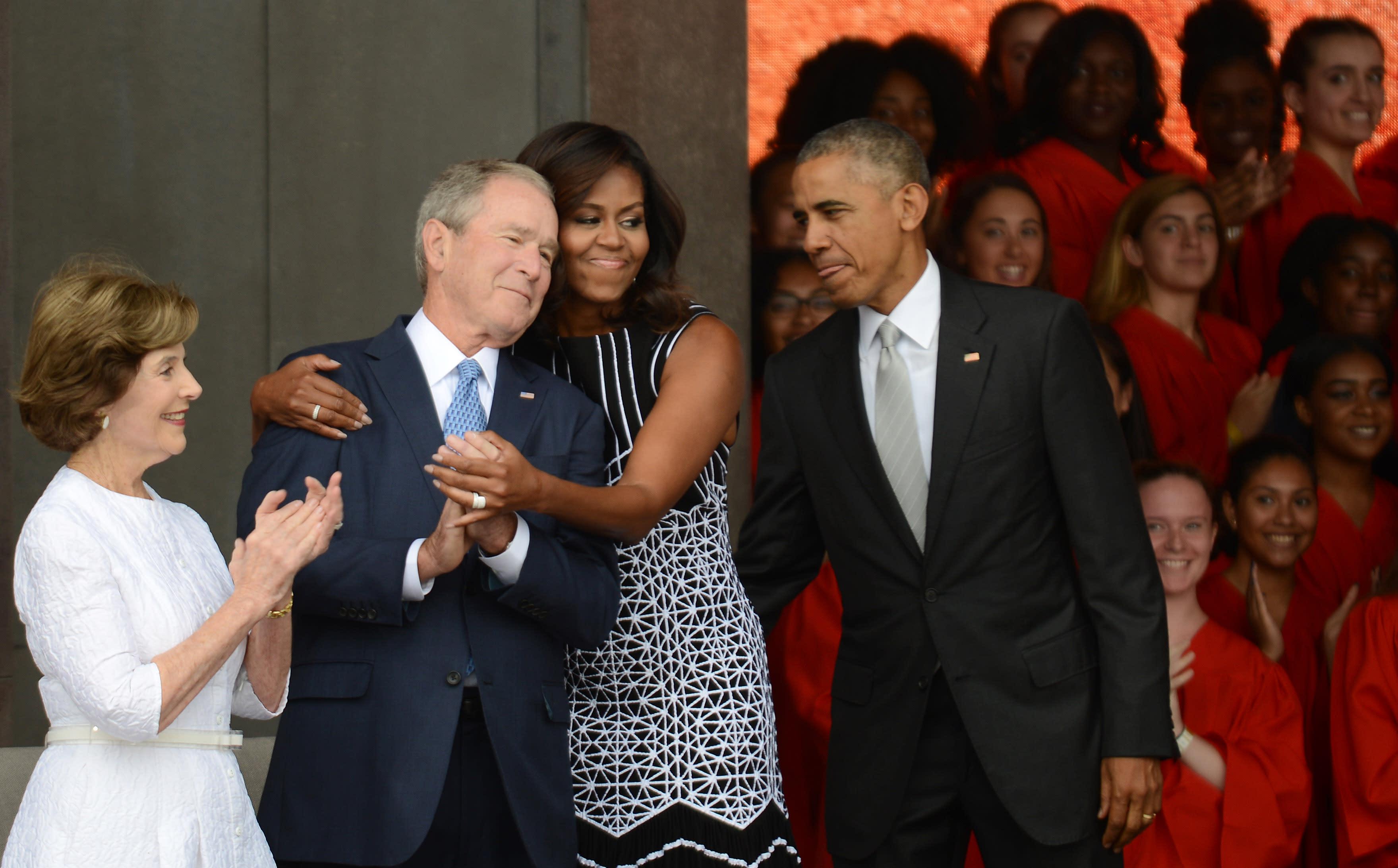 Michelle Obama Gushes About Wonderful Man George W Bush