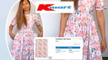 Kmart shopper turns $1.50 tea towels into 'amazing' dress