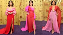 Mandy Moore, Marisa Tomei and more stars wear red and pink to the Emmys: 'Everyone is dressed like a VALENTINE'