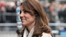 Duchess of Cambridge recycles old Reiss coat during day two of Ireland tour