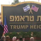 "Israel unveils ""Trump Heights"" community"