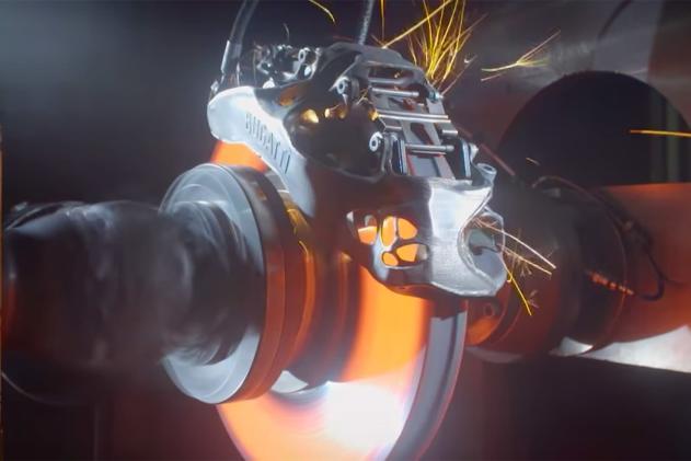 Watch Bugatti test the first 3D-printed brake caliper