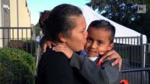 Migrant mother reunited with 5-year-old child after being separated at U.S. border