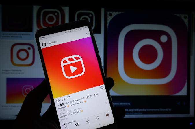 This illustration picture shows Instagram's new video feature ''Reels'' on a smartphone on August 7, 2020 in Tehatta, Nadia, West Bengal, India. (Photo Illustration by Soumyabrata Roy/NurPhoto via Getty Images)