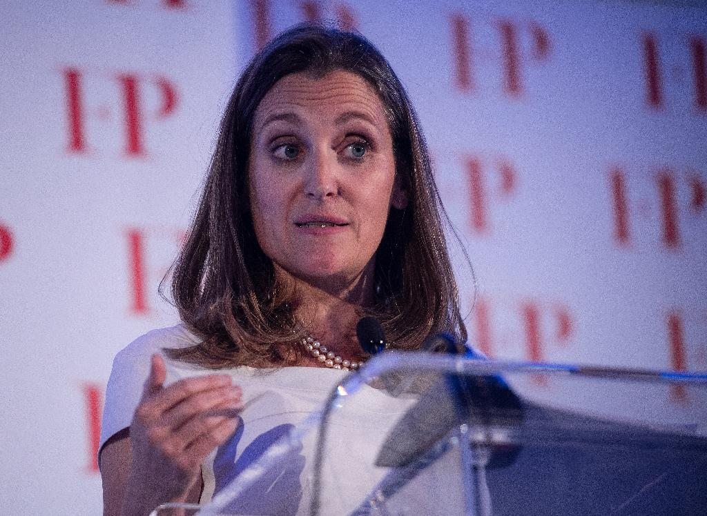 Canadian Foreign Minister Chrystia Freeland is seeking help from Germany and Sweden in defusing a row with Saudi Arabia