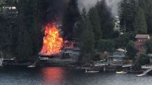 Fire Destroys Waterfront British Columbia Homes