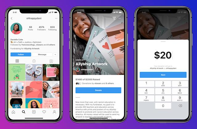 Instagram is testing personal fundraisers in the US, UK and Ireland