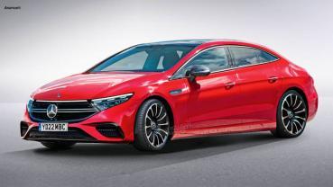 賓士 EQE 商務電動房車概念圖亮相,可能與 Model S 在同價格帶競爭