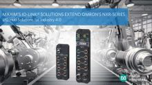 Maxim Integrated Enables OMRON to Extend its NXR-Series IO-Link Product Line with I/O Hub Solutions for Industry 4.0