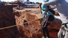 Man pushes girlfriend off cliff in 400ft canyon rope swing