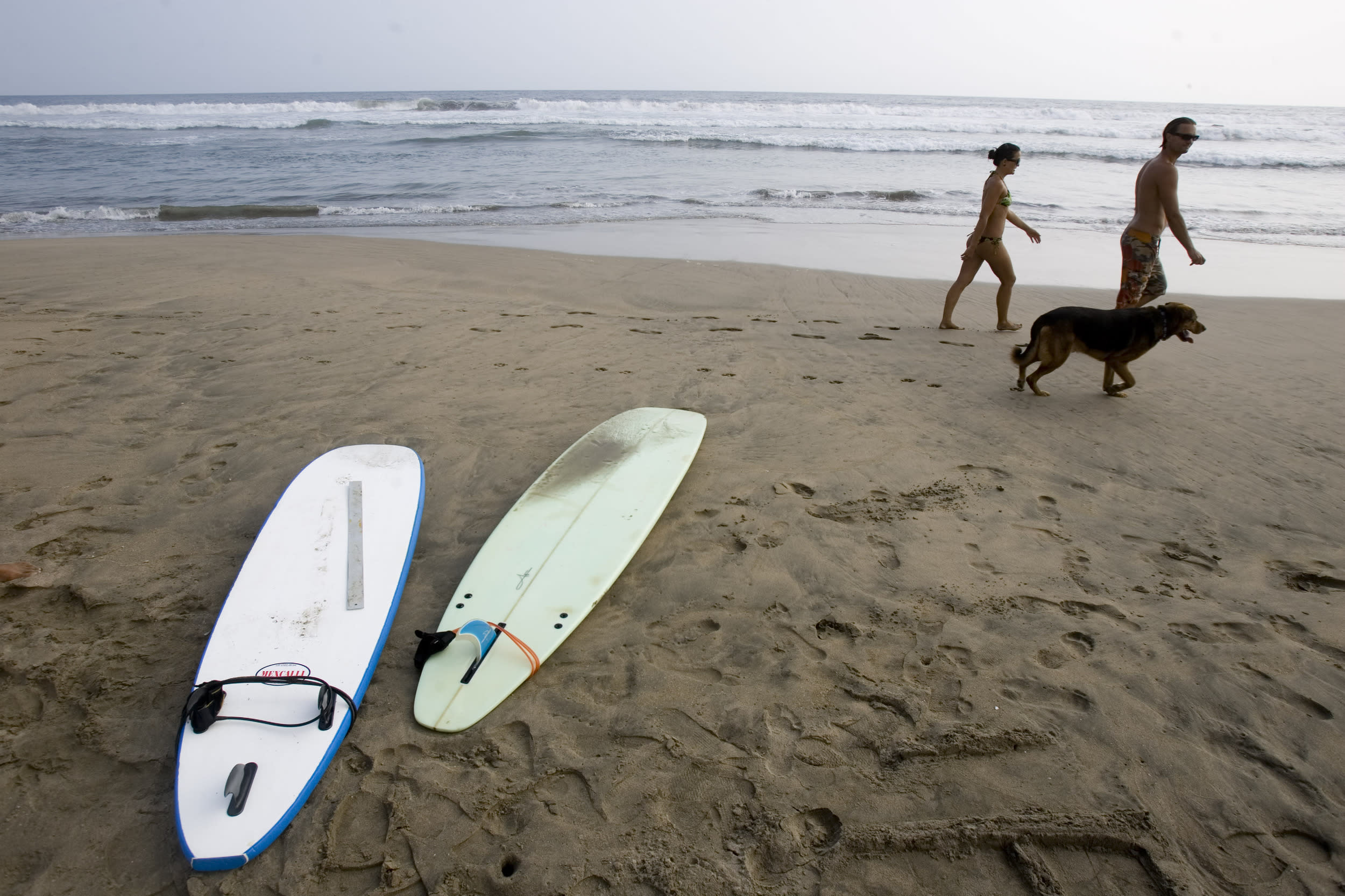 <p>Mexico has had 42 shark attacks (22 fatalities) since 1880.</p>  <p>Picture: People walk along Troncones beach in Mexico's Pacific Coast village of Troncones in 2008, after sharks attacked three surfers in the area in less than a month, two fatally.</p>