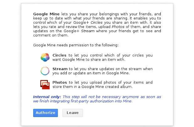 Google Mine service reportedly leaked, lets Google+ friends share real goods