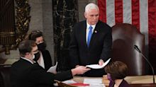 Mike Pence looks at the 2024 presidential race but sees Donald Trump everywhere