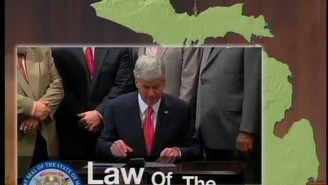Governor Snyder signs the budget