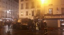 Spectaculaire incendie d'un camion de nettoyage en plein Paris