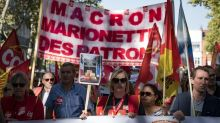 Thousands protest in France against Macron's labour reforms