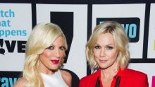 Jennie Garth Meets Tori Spelling's Newest Baby