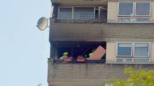 Shocked Residents Flee Blaze At Flats Near Grenfell Tower