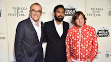Glastonbury revellers enjoy a special screening of 'Yesterday' attended by film's star