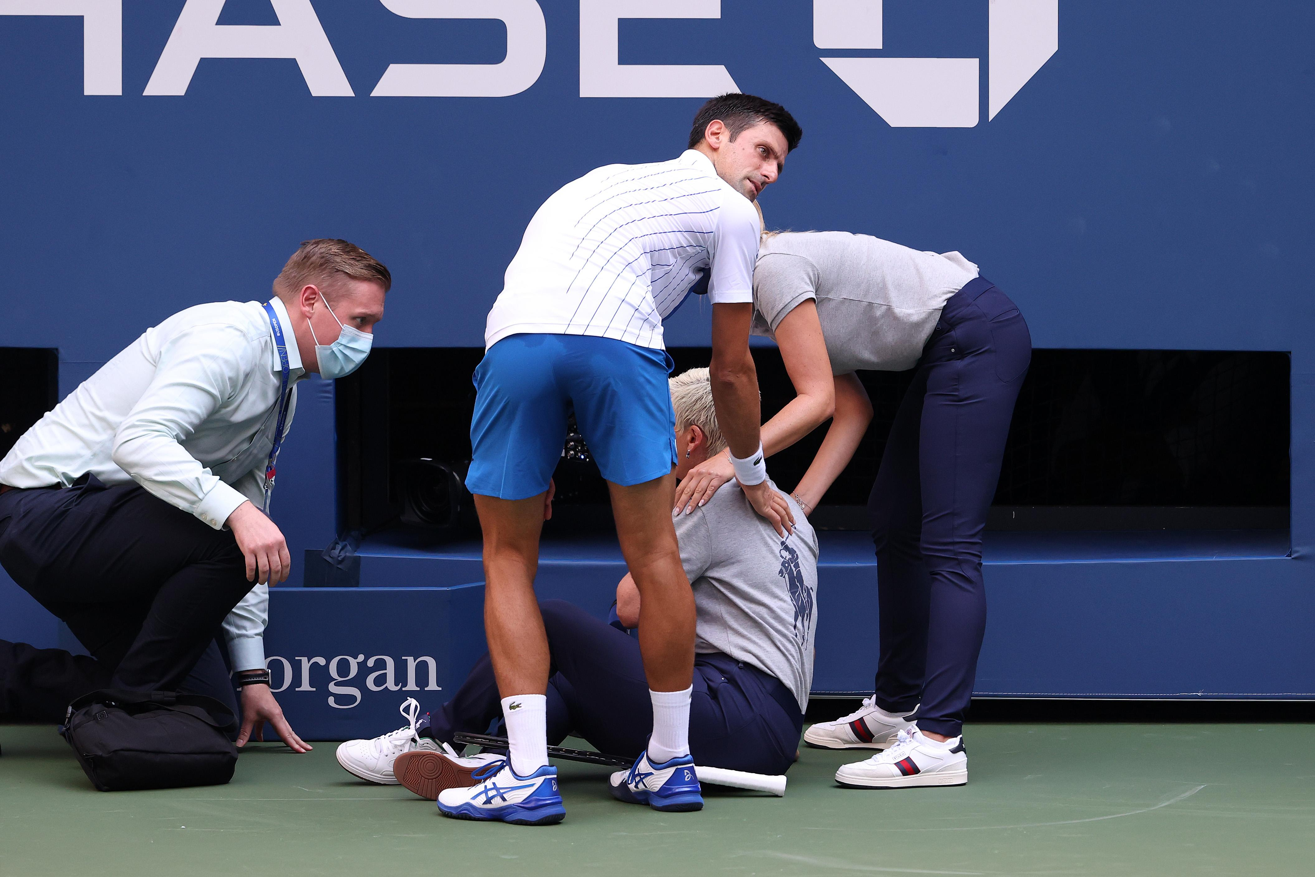 Us Open Novak Djokovic Out On Default After Hitting Line Judge