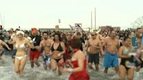 Thousands Jump Into Frigid Waters