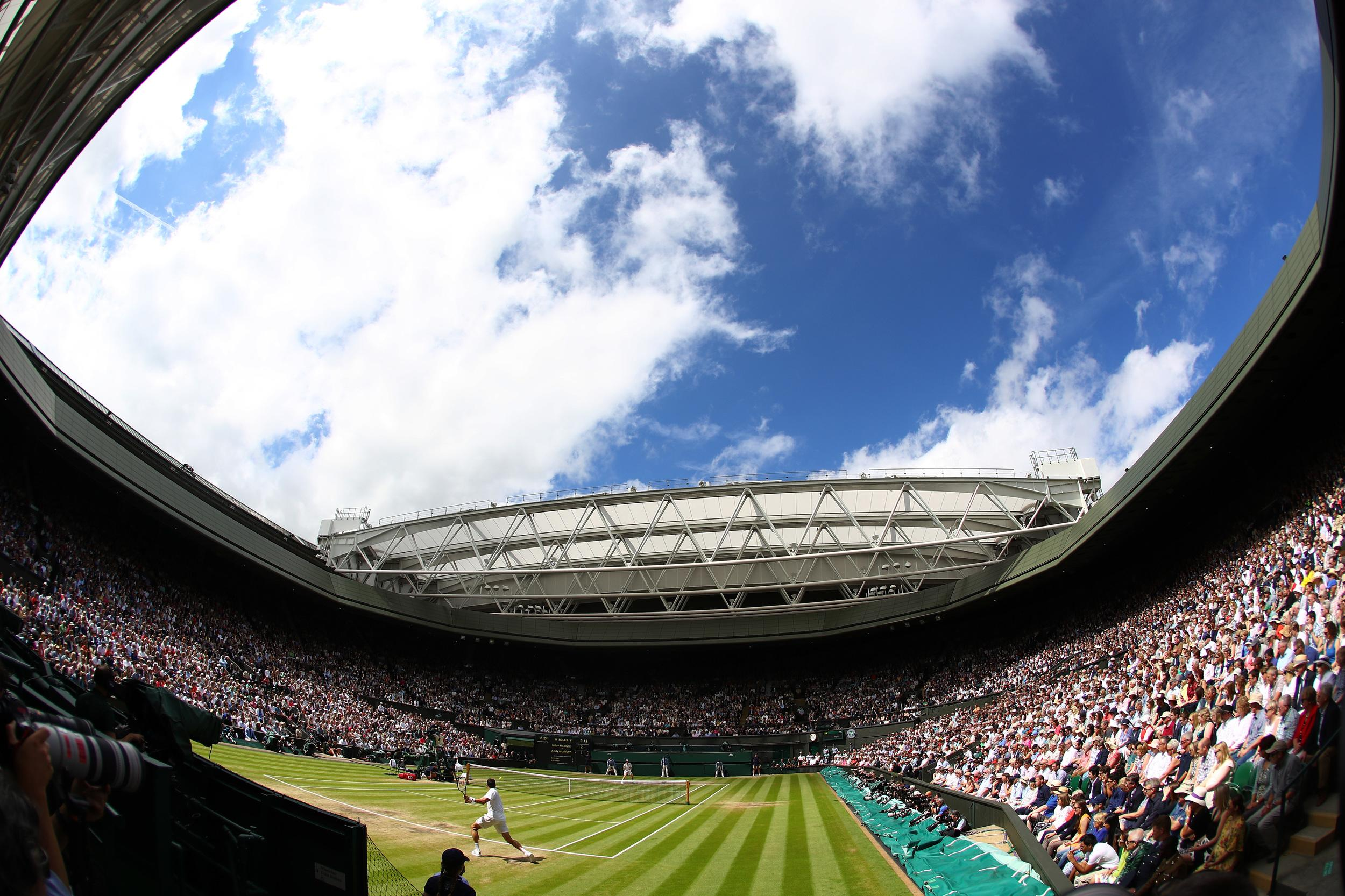 A general view inside Centre Court.