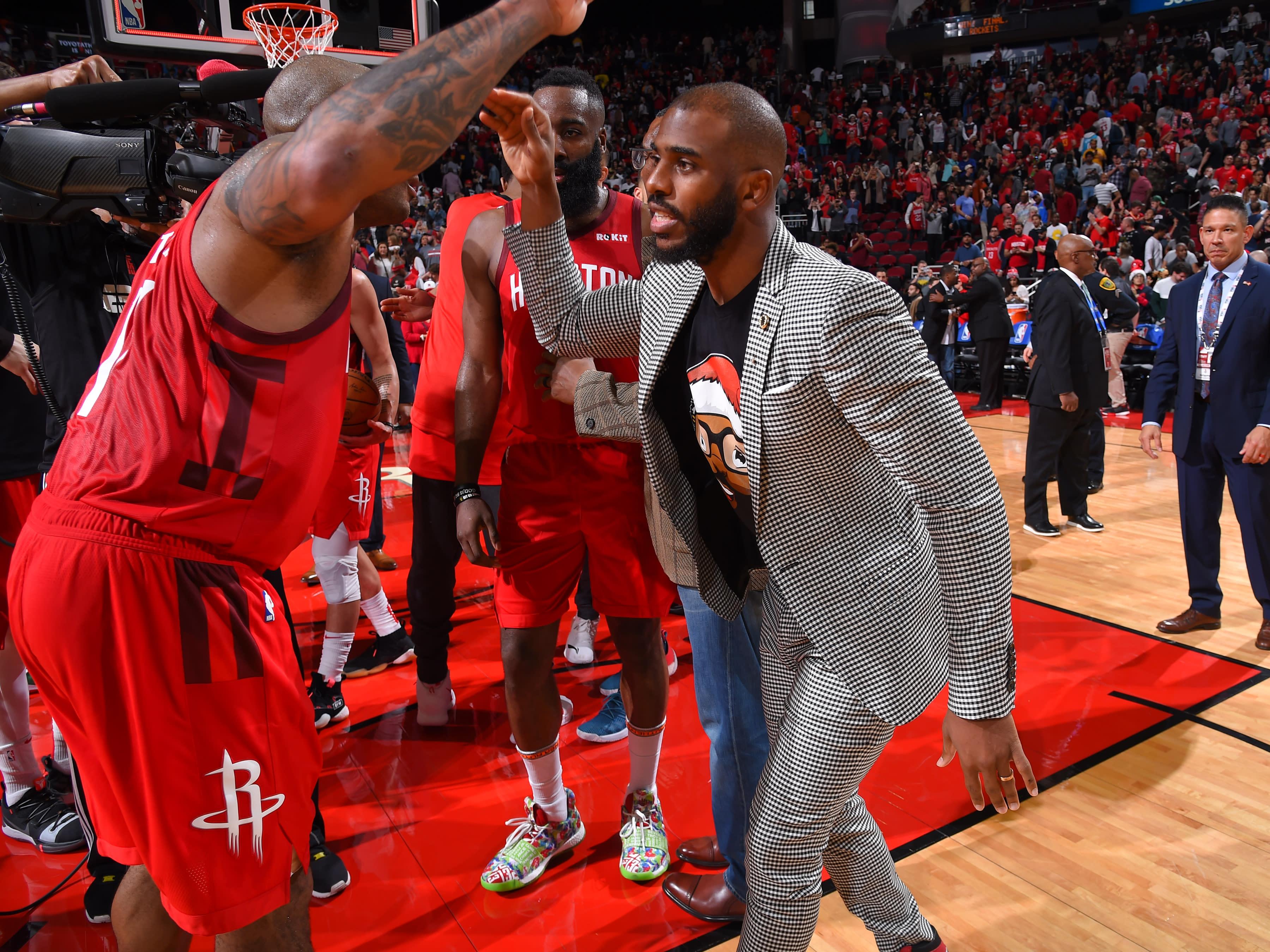 2017a579ee56 Rockets guard Chris Paul earned a technical foul Thursday