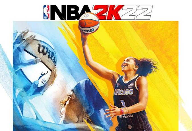 Candace Parker on the NBA 2K22 cover