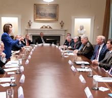 Trump's 'meltdown' meeting with Nancy Pelosi reportedly went off the rails when she called him out for helping Putin in Syria
