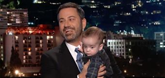 Jimmy Kimmel gives tearful update on son's health