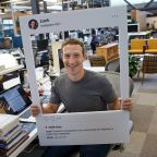 This photo shows that even Mark Zuckerberg is paranoid about his privacy (FB)
