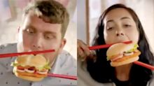 Burger King removes 'racist' advert of people eating burgers with chopsticks