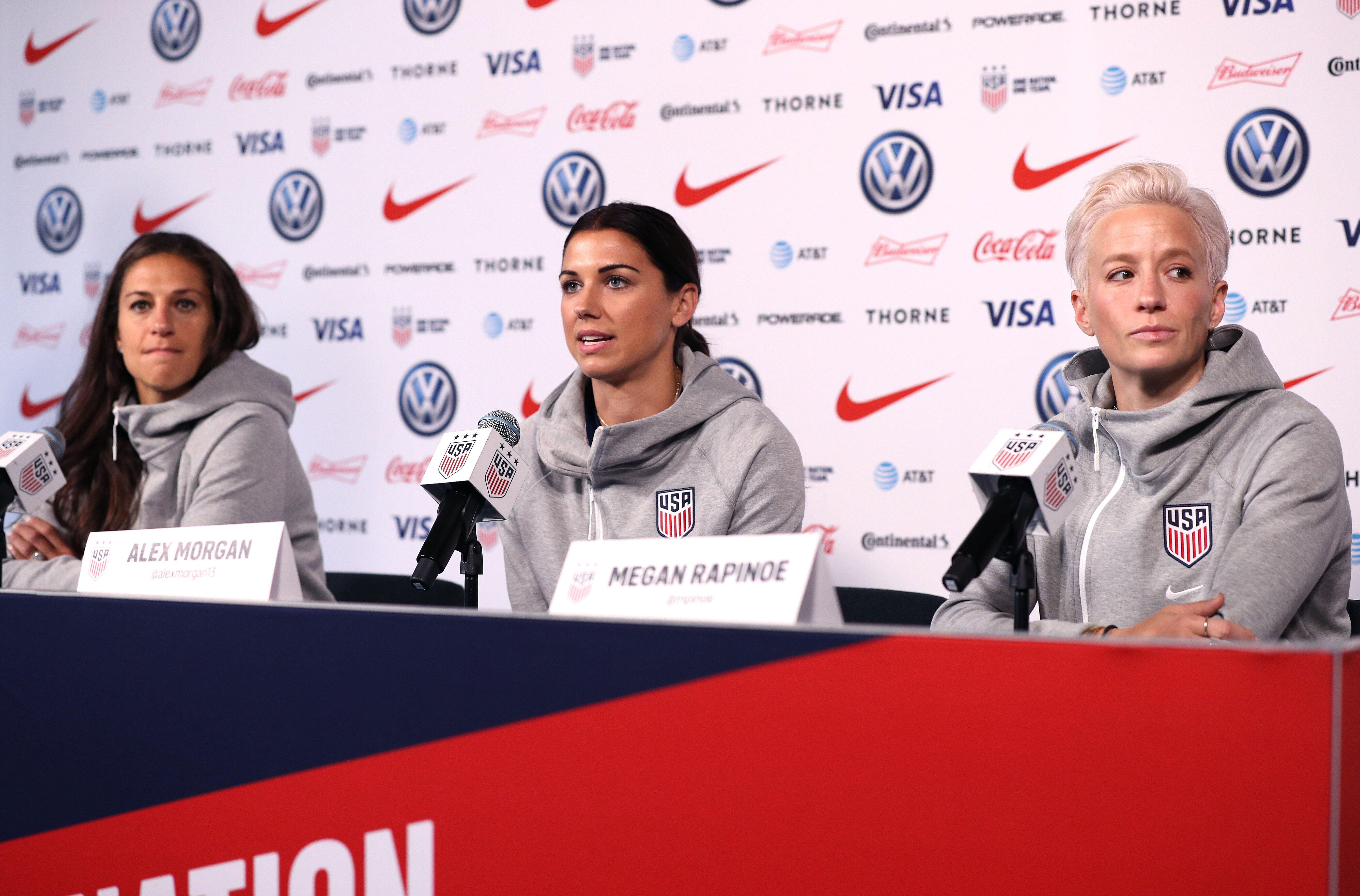 9df678b40de USWNT media day makes it clear: Women's World Cup hype is hitting fevered  pitch
