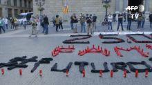 A Barcelone, des bougies allumées contre la fermeture d'une usine Nissan