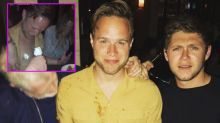 Niall Horan films Olly Murs with whipped cream on his nipples during boozy night out