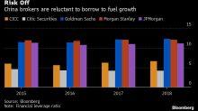 Wall Street Circles as China Brokerages Struggle for Returns