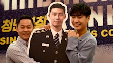Kang Ha-neul and director Jason Kim at 'Midnight Runners' press conference in Singapore