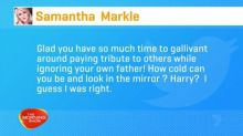 Samantha Markle lashes out at Meghan