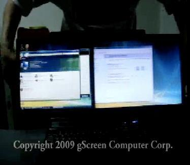 gScreen Spacebook caught on video working its dual-screen magic
