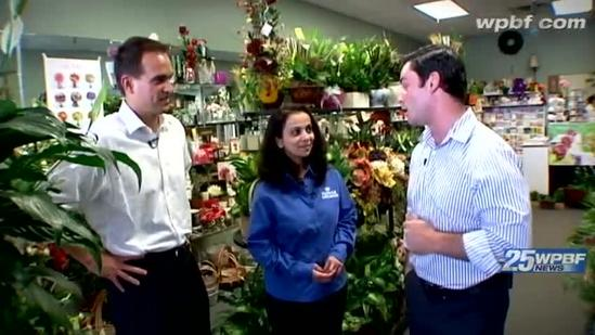 On The Job: Paul and Chris do some florist-ing